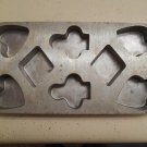 Cast Iron Cup Cake Pan Bridge Poker Spades Clubs Hearts Diamonds