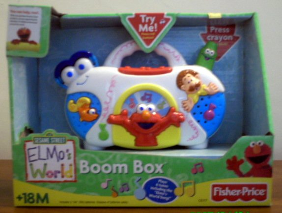 Sesame Street Fisher Price Boom Box - Elmo World