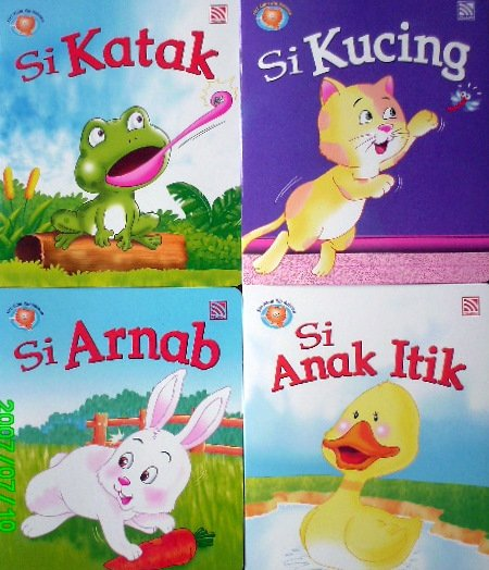 4 Sets of Bahasa Malaysia Language Books for Kids
