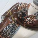 Scarves Scarf Leopard Print Scarf Multicolor Brown Black Gray Fire brown Chiffon Scarf - By PIYOYO