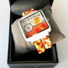 Colorful Watch Women Wrist Watch Hand Crafted Watch Suede Wrap Watch Christmas Gift-By PiYOYO