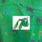 Green  Scarf Owl  Print Animal  Scarf   Spring Scarff- By PiYOYO