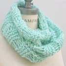 Mint Green Knitted Scarves Hand KNit infinity scarf By - PiYOYO