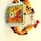 Women Wrist Watch Handmade Gift Suede Leather Multicolored Watch Christmas Holiday Gift - By PiYOYO