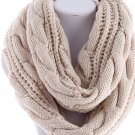 Best Selling Items Ivory Handknit Infinity Scarf Back to School Hand Knitted Scarf - By PiYOYO