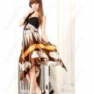 Exotic Bohemian Style Spaghetti Strap Knee Length  Dress - Coffee NLD-45115