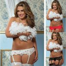 Seductive Lace Garter Stocking Suspender with T-back  NUL-90693