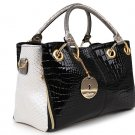 Luxury Fabulous Trend Women's Tote/Shoulder Handbag BLACK IVORY