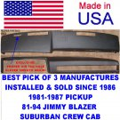 CHEVROLET  GMC  81-87 PICKUP 81-94 JIMMY BLAZER SUBURBAN CREW CAB