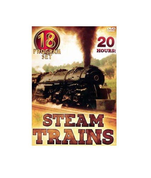 Steam Trains - Eighteen Program Set (DVD, 2004, 5-Disc Set)