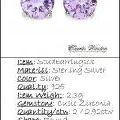 Purple Earrings - Charles Winston
