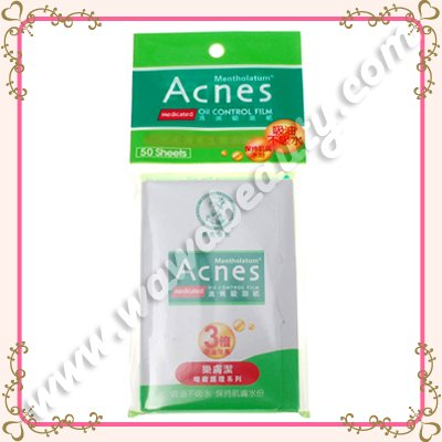 Mentholatum Acnes Medicated Oil Control Film, Oil Blotting Papers, 50 Sheets