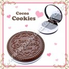 Oker Cocoa Cookies Compact Mirror and Comb Set, Milk Chocolate Cookie