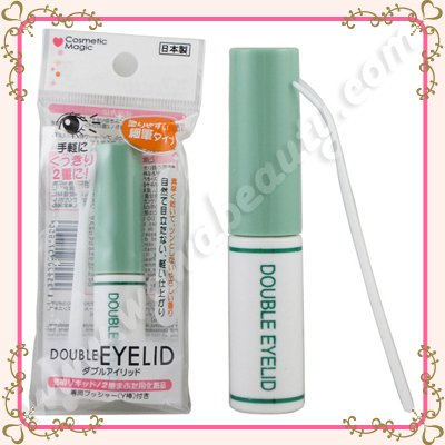 Makoto Cosmetic Magic Clear Double Eyelid Glue with Fork Applicator