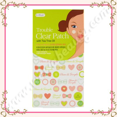 Cettua Trouble Clear Patch with Tea Tree Oil Pimple Stickers, 48 Patches