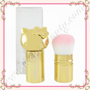 Sanrio Hello Kitty Retractable Kabuki Brush, Gold, Limited Edition