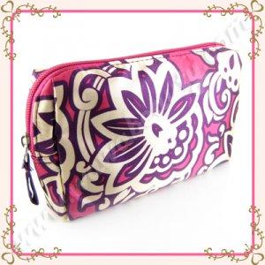 Target Purple & White Makeup Bag