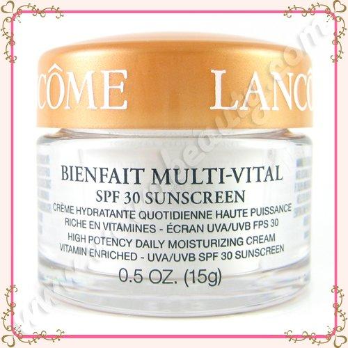 Lancome Bienfait Multi-Vital SPF 30 Sunscreen High Potency Daily Moisturizing Cream, 0.5oz / 15g