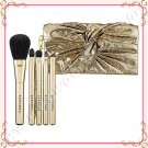 Sephora Collection Sparkle Bow Clutch Brush Set, Gold, Limited Edition