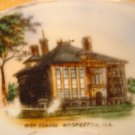 "B.R.C. RACINE BAVARIA, HAND PAINTED ""HIGH SCHOOL HOOPESTON, IL""  PORCELAIN SAUCER"