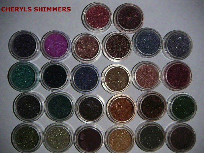 Cheryls Shiny Eyes Shimmers Pigments  LOT OF 6  FULL 5 Gram jars 130+ CHOICES  MAC buyers love them!