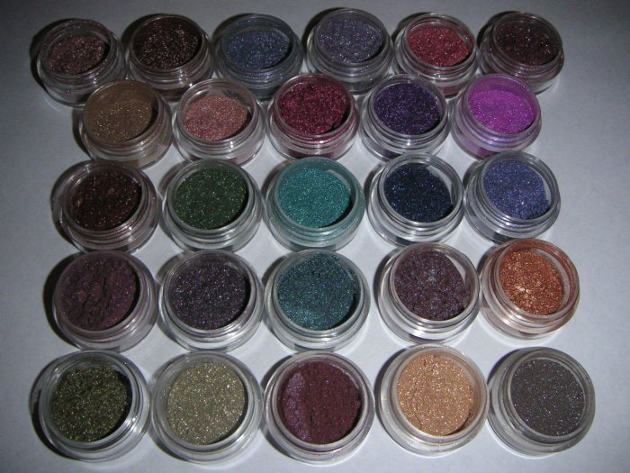 SHINY EYES CJ'S SHIMMERS / PIGMENTS Lot of 3  FULL 10 gram Container 130+ CHOICES