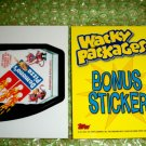 WACKY PACKAGES ANS8 BONUS CARD **DEMONO,S PIZZA**  B3