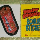 WACKY PACKAGES ANS5 ***BLOB~EVANS*** BONUS STICKER  B1