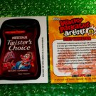 2012 WACKY PACKAGES SERIES8 BIO CARD **TWISTER'S~CHOICE** FRED WHEATON