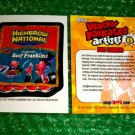 2012 WACKY PACKAGES SERIES8 BIO CARD **HIGHBROW NATIONAL** JOE SIMKO