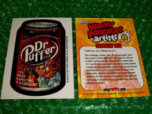 2012 WACKY PACKAGES SERIES8 BIO CARD **DR.PUFFER** SMOKIN'JOE