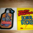 WACKY PACKAGES ANS4 ***NEUTROGENIE*** BONUS STICKER  B2