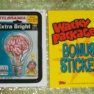 WACKY PACKAGES ANS5 ***SYLBRAINIA*** BONUS STICKER  B2