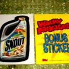 WACKY PACKAGES ANS2 ***SNOUT*** BONUS STICKER  B7