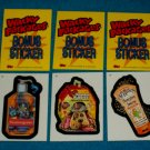 WACKY PACKAGES ANS4 *** THREE BONUS STICKERS*** B2,B3,B4