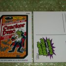 2011 WACKY PACKAGES HALLOWEEN MINI POSTCARD **CRACKER DRAC** PCM4