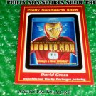 """WACKY PACKAGES PHILLY SHOW PROMO CARD """"IRONED MAN"""" #66 DAVID GROSS"""