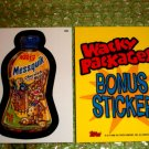 WACKY PACKAGES ANS3 ***MESSQUIK***BONUS STICKER  B6