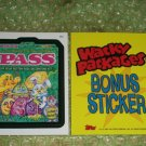 WACKY PACKAGES ANS6 ***PASS*** BONUS STICKER  B3