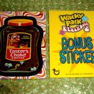 WACKY PACKAGES FLASHBACK2 **TASTER'S CHOKE** BONUS STICKER B4 TARGET  HTF!!