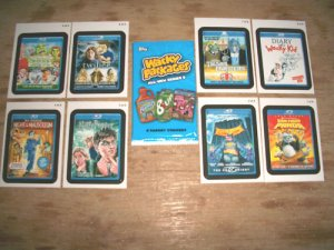 "WACKY PACKAGES 2011 ANS8 ""GO TO THE MOVIES"" SET 8/8 NM+"