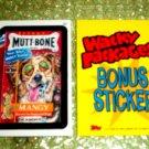 WACKY PACKAGES ANS3 ***MUTT-BONE***BONUS STICKER  B4