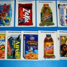 2004 WACKY PACKAGES ANS1 COMPLETE SET of **CLEAR CLINGS** 9/9   HTF!!