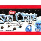 2013 WACKY PACKAGES ANS11 RED BORDER **SNO CRAPS** STICKER #26