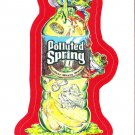 2013 WACKY PACKAGES ANS11 RED BORDER **POLLUTED SPRING** STICKER #14