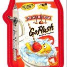 2013 WACKY PACKAGES ANS11 RED BORDER **GO-FLUSH** STICKER #2 NEW SERIES