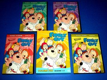 Family Guy - Volume 1: Seasons 1 & 2 (DVD, 2009, 4-Disc Set)