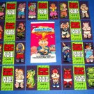 "2013 Garbage Pail Kids BNS2 """"FOLDEES"""" COMPLETE SET 10/10 + WRAPPER!!"