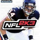 NFL 2K3  (Xbox, 2002) INCUDES INSTRUCTION BOOKLET