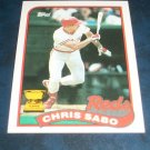 Topps 1989 ALL STAR ROOKIE **CHRIS SABO** BASEBALL CARD